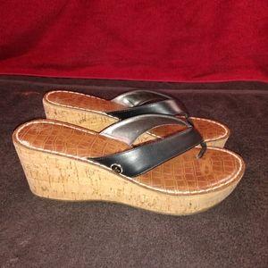 Sam Edelman Romy Cork Wedge Sandals sz 7.5M